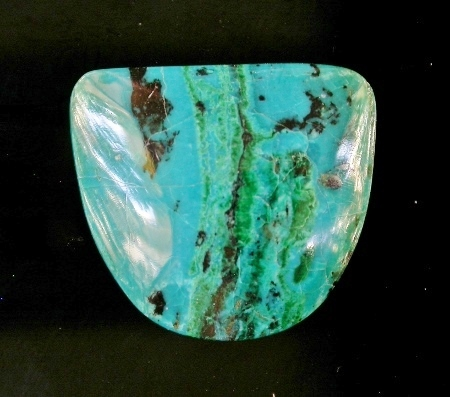 CHRYSOCOLLA/MALACHITE DESIGNER CABOCHON (RAY MINE, ARIZONA) – 19.36 CT.