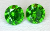 DEMANTOID PAIR (Russia) -- .69 ct. T.W. (All uses; N)