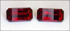 FIERY RED GARNET MATCHED PAIR, OPPOSED-BAR CUT (Africa) � 2.54 ct. T.W.