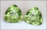 PERIDOT MATCHING PAIR (CHINA) – 2.86 CT. 7 X 7 MM. TRILLIONS