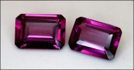 ROYAL RHODOLITE GARNET, MATCHED PAIR (India) -- 5 X 7 MM. OCTAGON STEP CUT