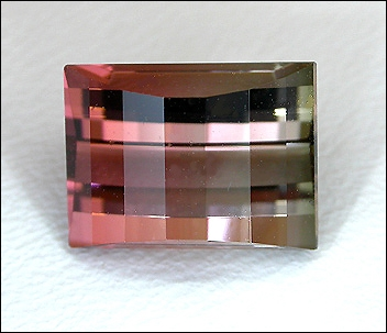 TOURMALINE (BI-COLOR) (Africa) – 2.79 ct. Opposed-Bar Cut - VIDEO