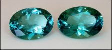 TOURMALINE, FINE BLUE-GREEN (Africa) – 1.28 TCW MATCHED OVAL PAIR